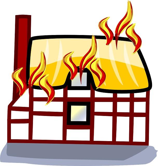 Fire-Damaged Home